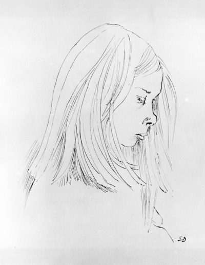 Anna  c 1966pen and ink size unknown