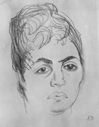 Anna Romano c 1963 pencil on paper size unknown