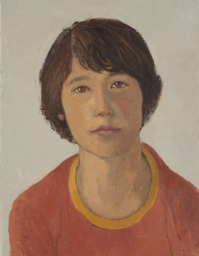 Boy in red shirt     oil on boardDate unknown16 x 12 in (41 x 30cm)