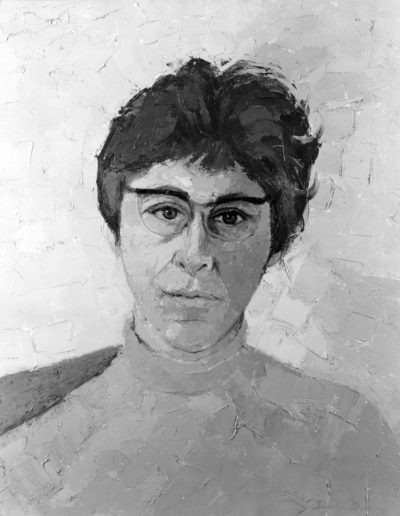 Dr Mildred Marshak 1970oil on canvas 20 x 16 in (51 x 41cm)