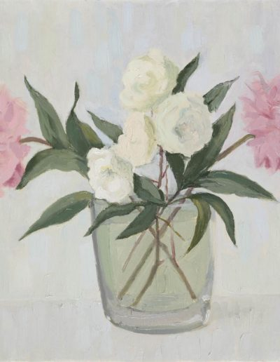 Pink rose, white rosec 1995oil on canvas20 x 16 in (51 x 41 cm)