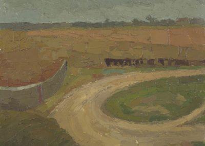 Sefter fields c 1970oil on board10 x 14 in (25 x 36cm)
