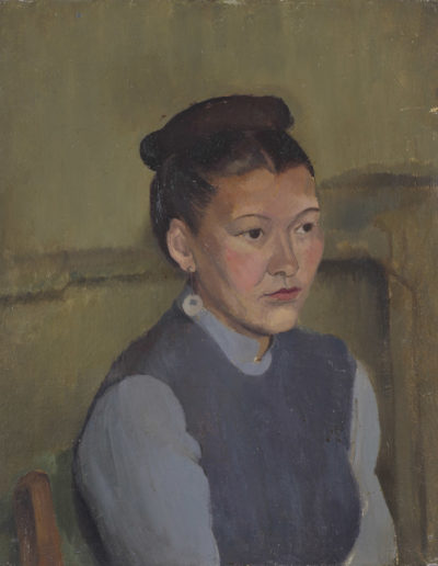 Woman with bunc 1938oil on board20 x 16 in (51 x 41cm)