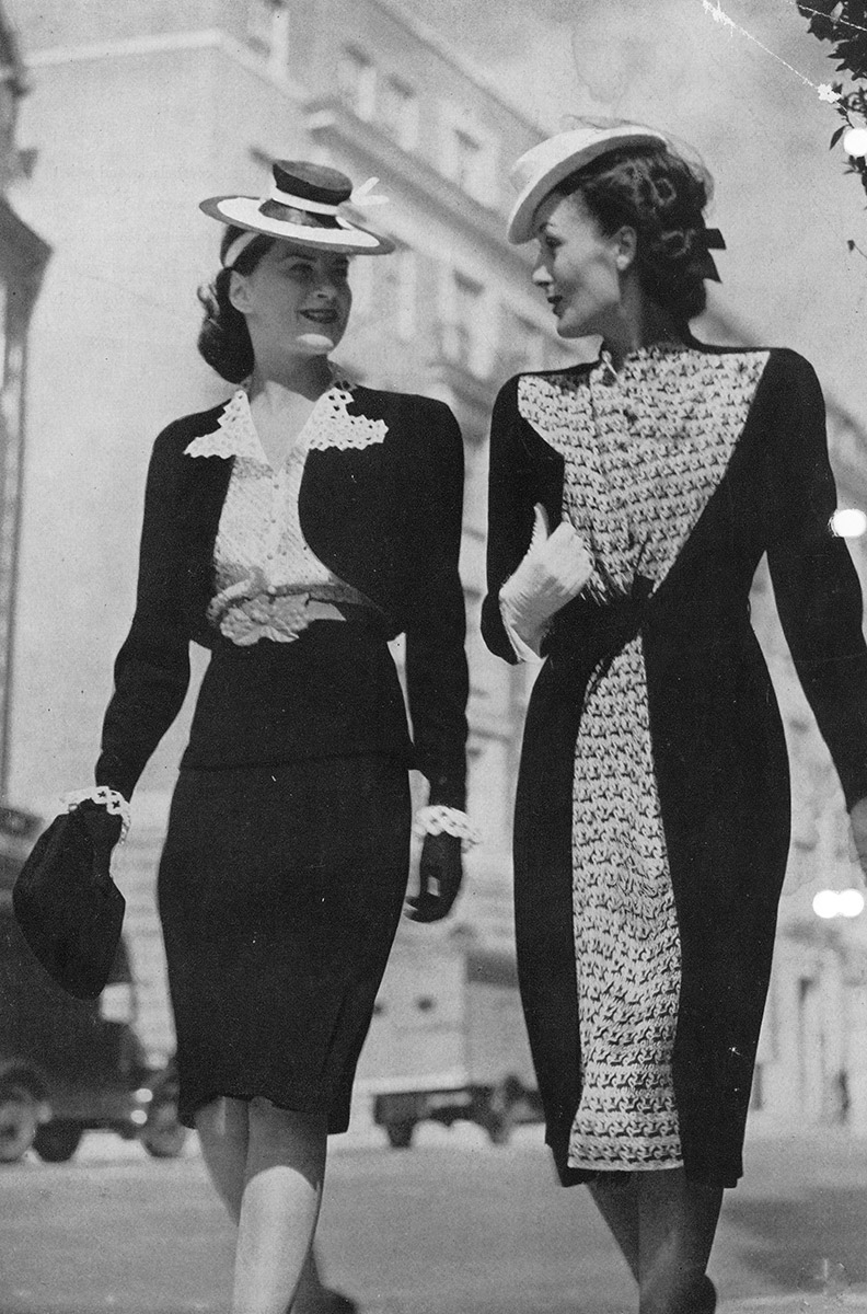 Photo Sheila working as a fashion model in the late 1930s