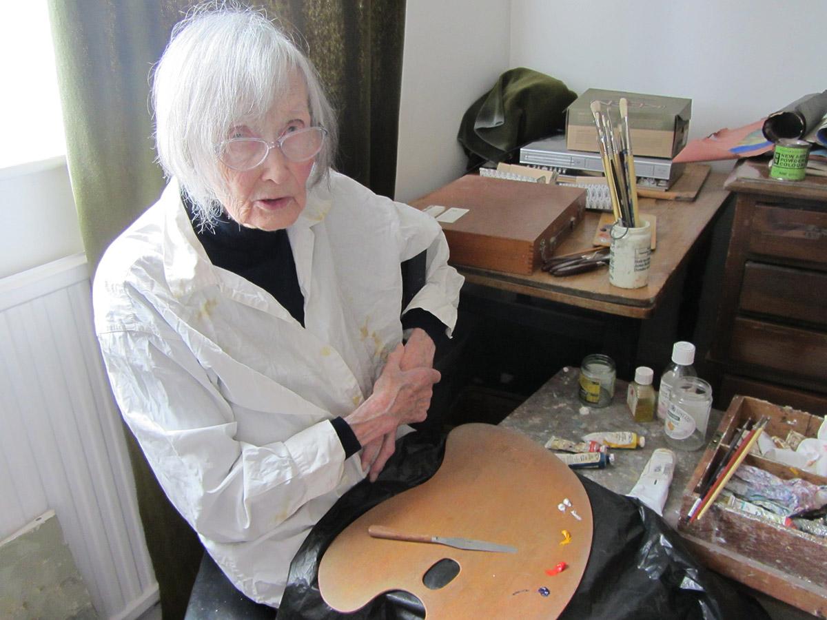 Sheila in her studio, summer 2014
