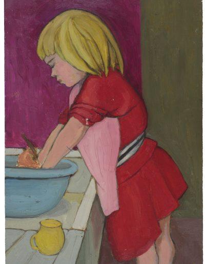 Anna washing up